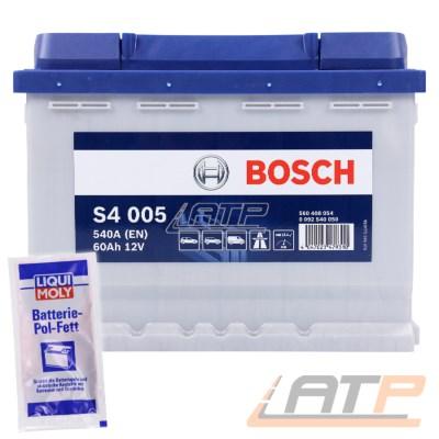Bosch S4 005 60-AH 12-V 540-A AUTOBATTERIE STARTERBATTERIE PKW KFZ BATTERIE ERSETZT 55-AH 56-AH 58-AH