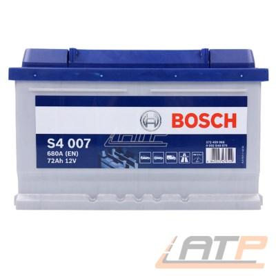1x BOSCH S4 007 Autobatterie Starterbatterie Batterie 72Ah 680A 12V