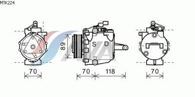 Teilebild Kompressor, Klimaanlage