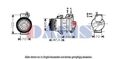 Dasis 851846N Kompressor, Klimaanlage