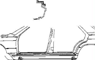 Teilebild Einstiegblech, oben